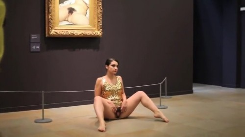 Luxembourg performance artist Deborah De Robertis and Courbet's Origin of the World