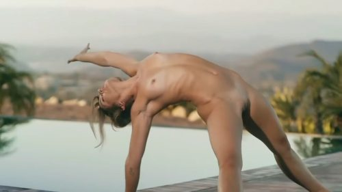 Naked Yoga For healthy Waist and Back