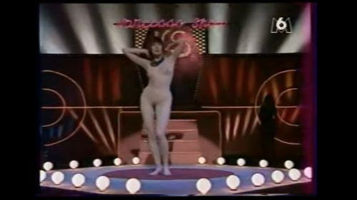 Narcisso Show. Rebecca. Dernière émission . Striptease sur M6  (TV 1990)