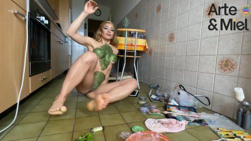BodyPaint Herb Mint / Menta BodyPainting / Tea Mint BodyPaint / Art MakeUp Menta / Maquillaje Menta