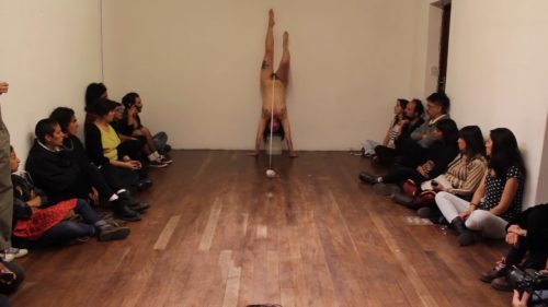 "Performance nº5 /serie ""The Pieces of my mothers""  /Daniela Lillo Olivares/ La Paz, Bolivia"