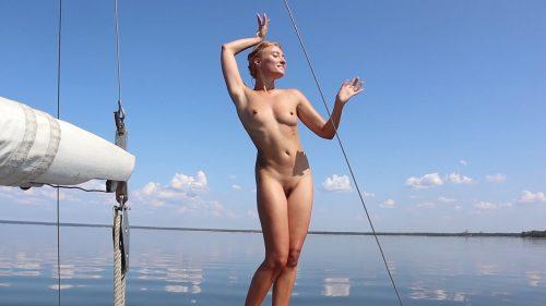 Sofi. Dance on a yacht