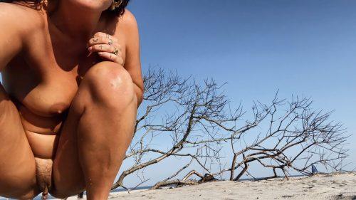 21-08-24 — self-portrait video with tree at gunnison beach