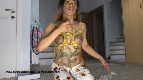 SunFlower Body Paint / Girasoles Pintura Corporal / How To Paint Sunflowers / Como Pintar Girasoles